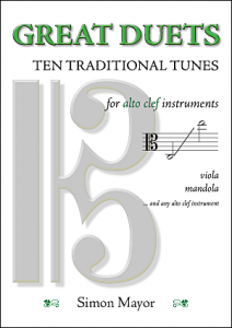 Traditional duets for alto clef