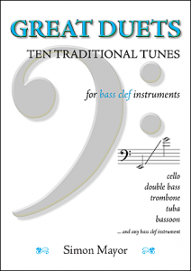 Traditional duets for bass clef